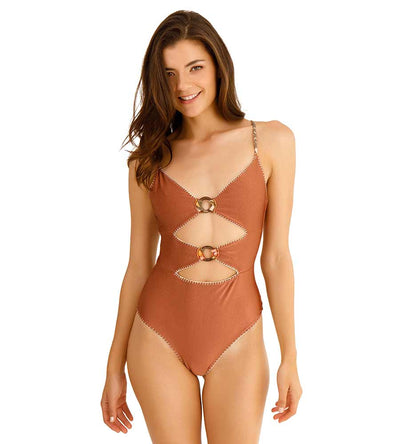 MARION PALMS ONE PIECE CAPITTANA MARION PALMS BROWN OP