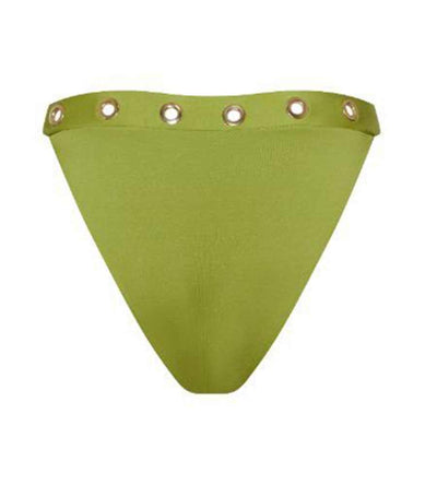 MATERIAL GIRL GREEN HIGH WAISTED BOTTOM MONICA HANSEN MHB-105G