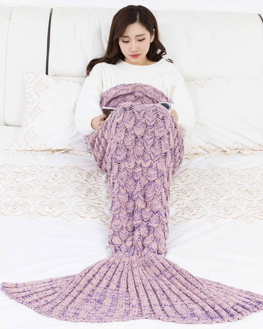 PINK SCALE MERMAID TAIL BLANKET BIKINIMA SMTBPNK