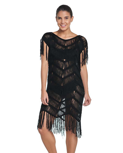 MIDNIGHT FRINGE COVER UP PILYQ MID-001T