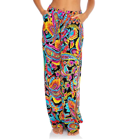 MOON NIGHTS SPLIT SIDE WIDE LEG PANT LULI FAMA L656N72-111