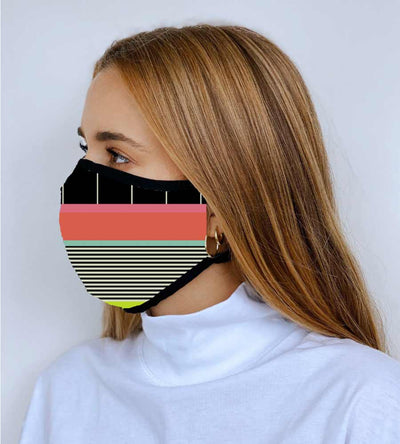 MULTI STRIPE JOURNEY REVERSIBLE FACE MASK MAAJI 1009INV002-5