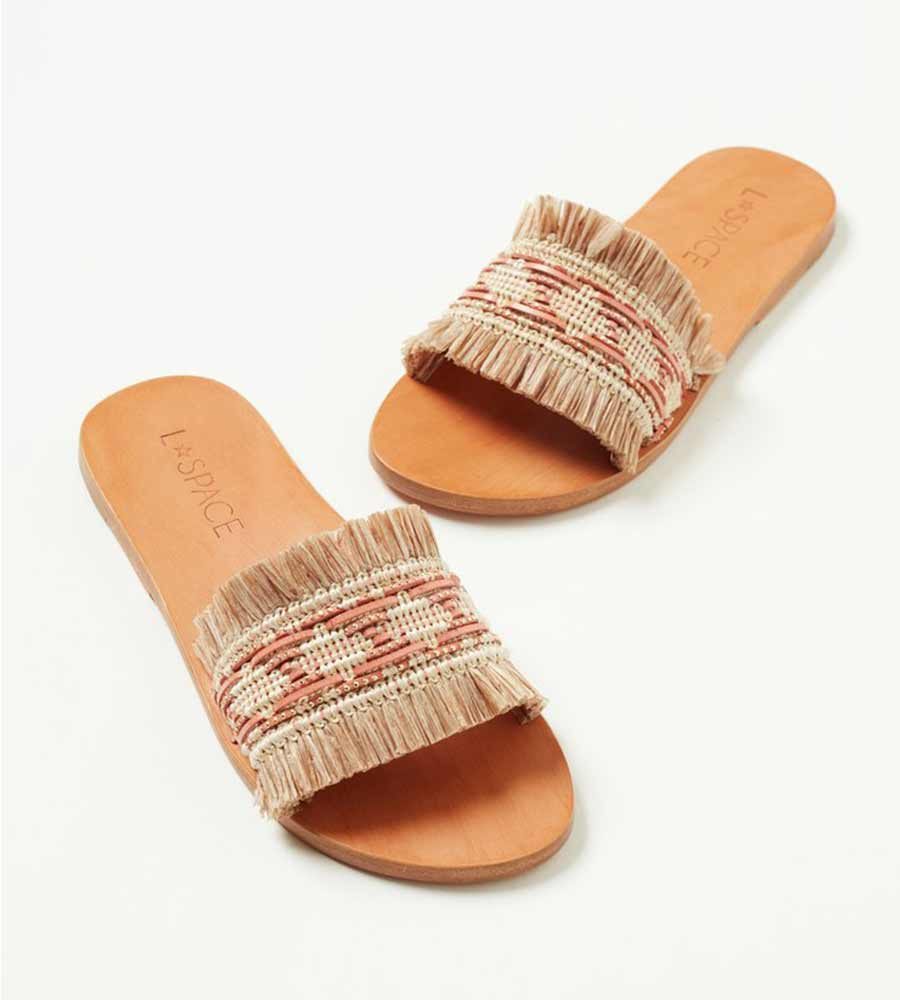 NATURAL/PINK SANDBAR SANDAL BY LSPACE