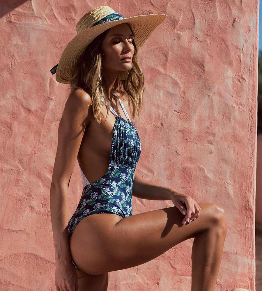NAVY BE FUNNY ONE PIECE BY KITESS SWIMWEAR