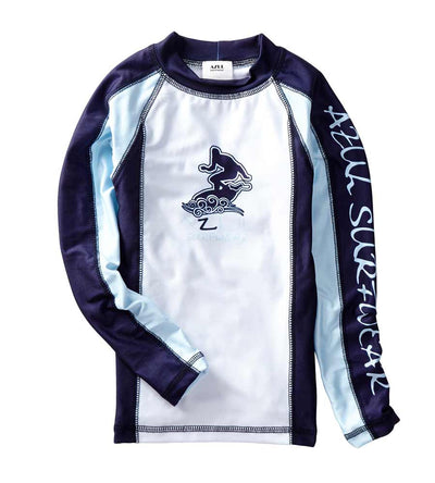 NAVY LONG-SLEEVE RASHGUARD AZUL 7009-B