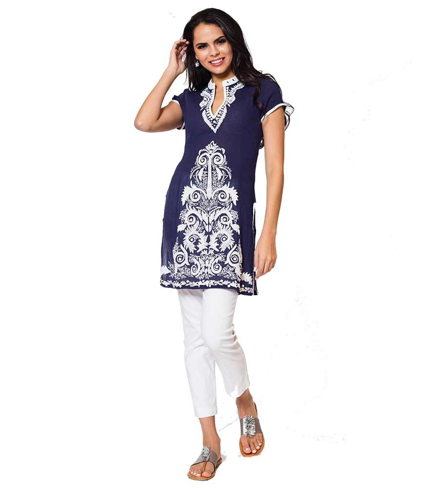 NAVY ROOPA LONG TUNIC SULU ROOPA1