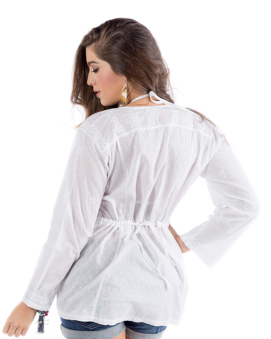 EMBROIDERED BUTTON DOWN SHIRT PRAIAVE NCA-2087