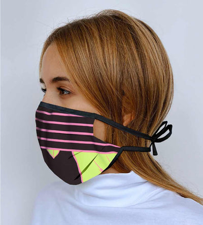 NEON LEAVES BELIEVE REVERSIBLE FACE MASK MAAJI 1012INV002-4