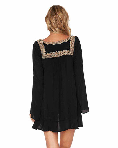 BLACK NORTHERN STAR TUNIC LSPACE NOSTU18-BLK