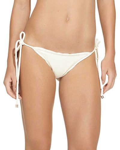 OFF WHITE BOUCLE RIPPLE TIE SIDE BOTTOM - BRAZILIAN CUT VIX 148-807-003