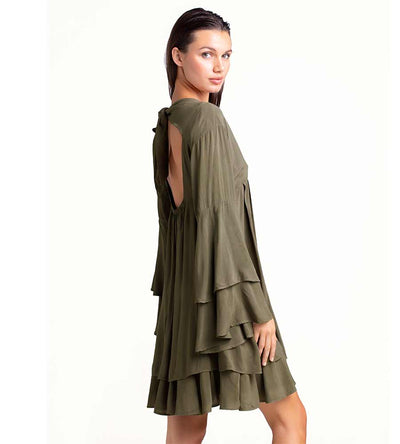 OLIVINE SHORT DRESS TOUCHE 0F49001