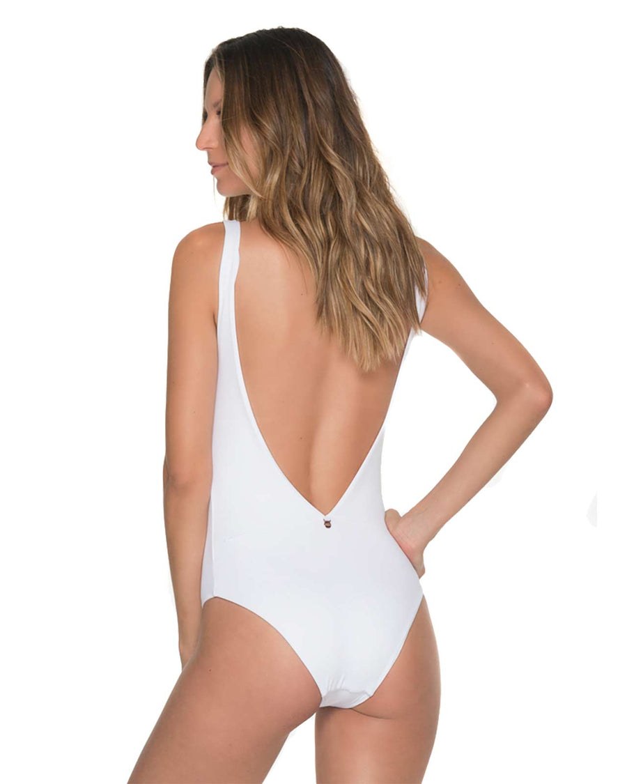 COCK A HOOP WHITE ONE PIECE MALAI OP0104