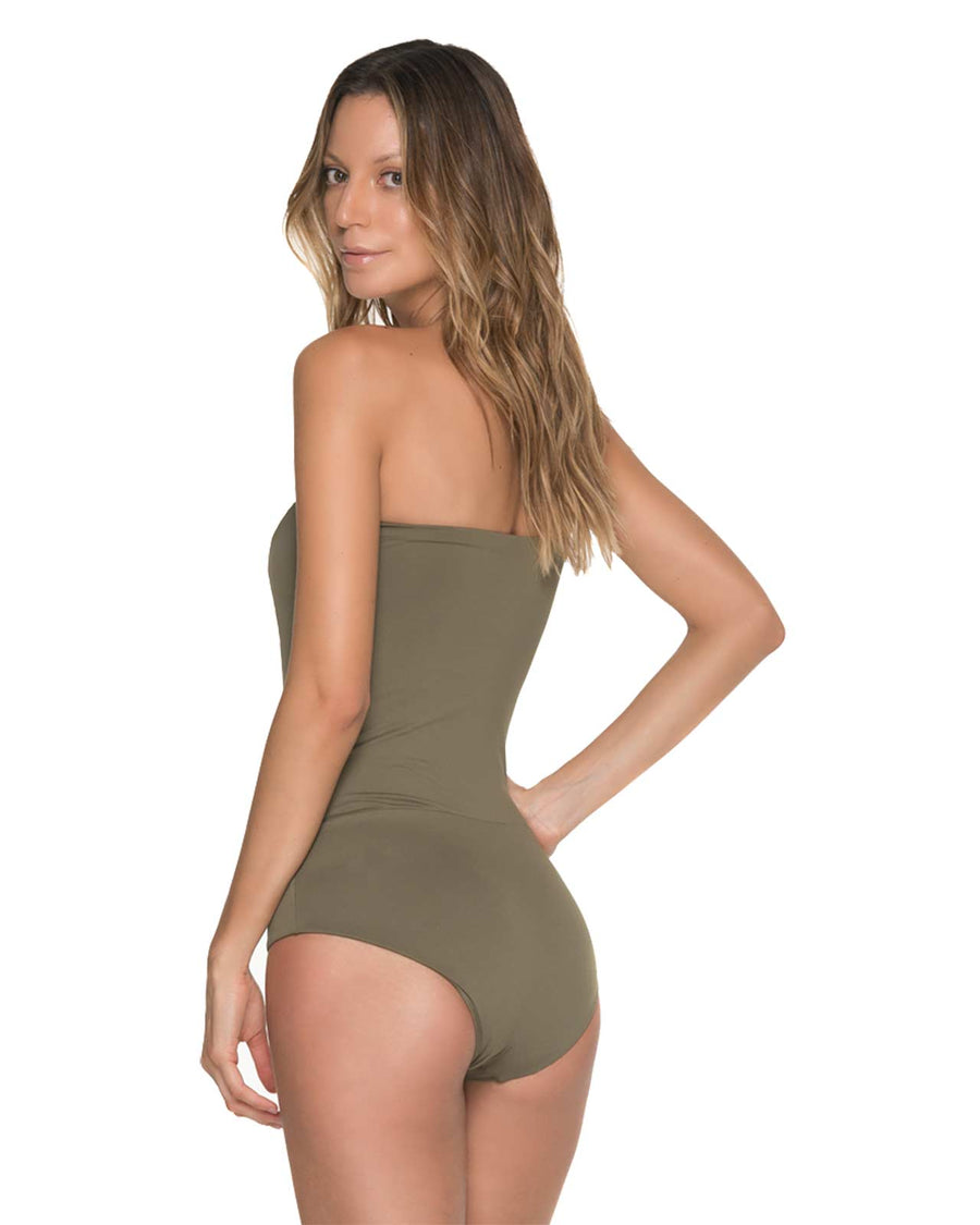 GLAM FISHBONE ARMY BANDEAU ONE PIECE MALAI OP0109