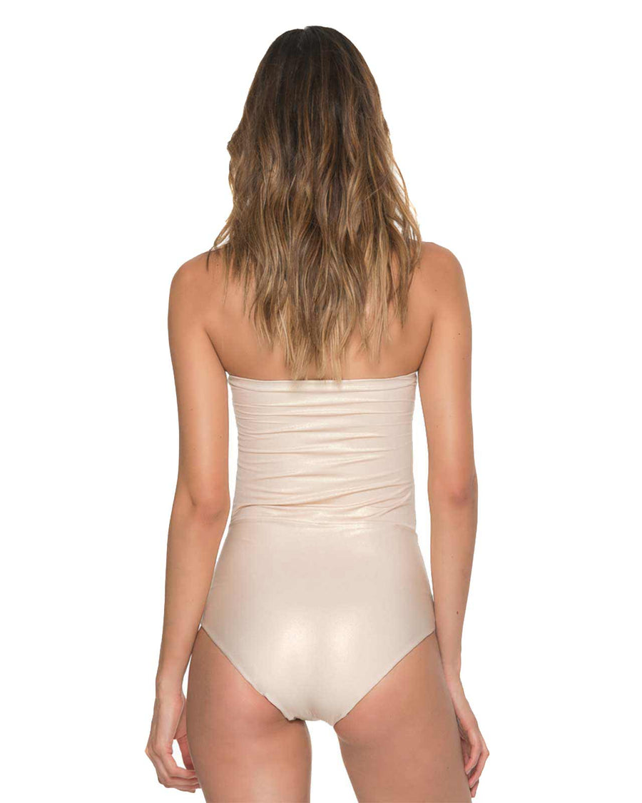 GLAM FISHBONE GILT BANDEAU ONE PIECE MALAI OP0111