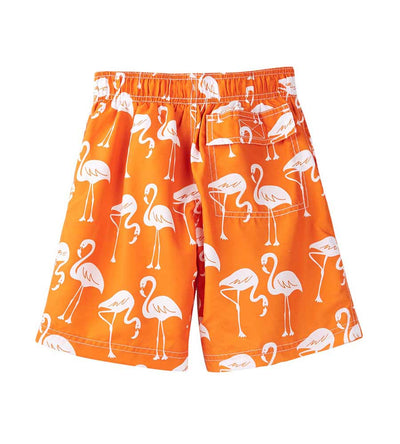 ORANGE FLAMINGOS SWIM SHORTS AZUL 199-O