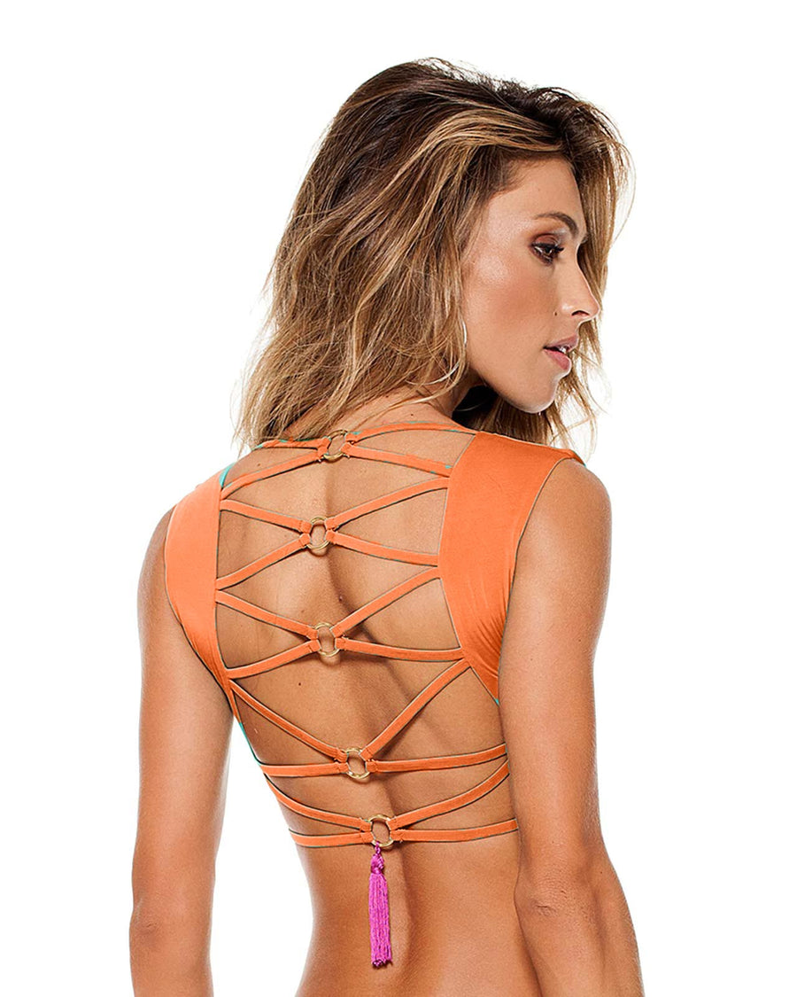 ORANGE KYLIE TOP BY LYBETHRAS