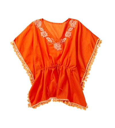 ORANGE POM POM KAFTAN AZUL 7720-O