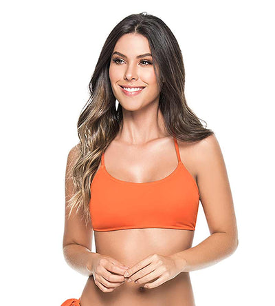ORANGE SPORTY BRALETTE TOP PHAX BF16570001-819