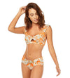 ORANGE LEAVES SHIRRED SIDE BOTTOM COSITA LINDA CL21081H