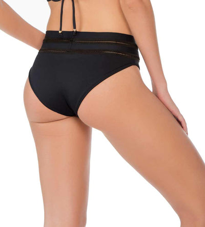 OSAKA BLACK HIGH RISE BIKINI BOTTOM MILONGA OSAL03