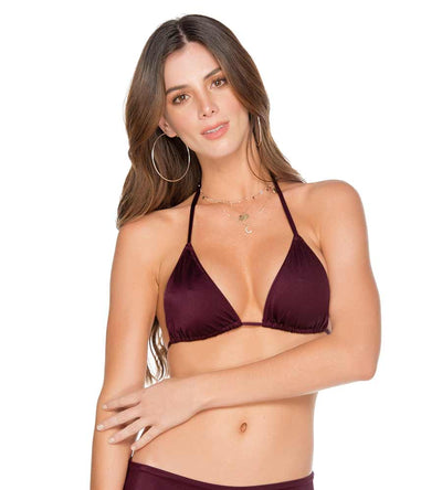 PALETTE COLORS PLUM TRIANGLE BIKINI TOP MILONGA PAL106