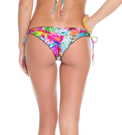 PARAISO CRYSTAL BRAZILIAN RUCHED TIE SIDE BOTTOM LULI FAMA L48802-111