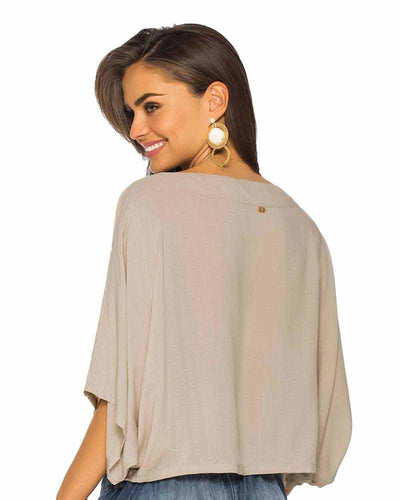 SAND FRONT POCKET BLOUSE PHAX PF11610038-212