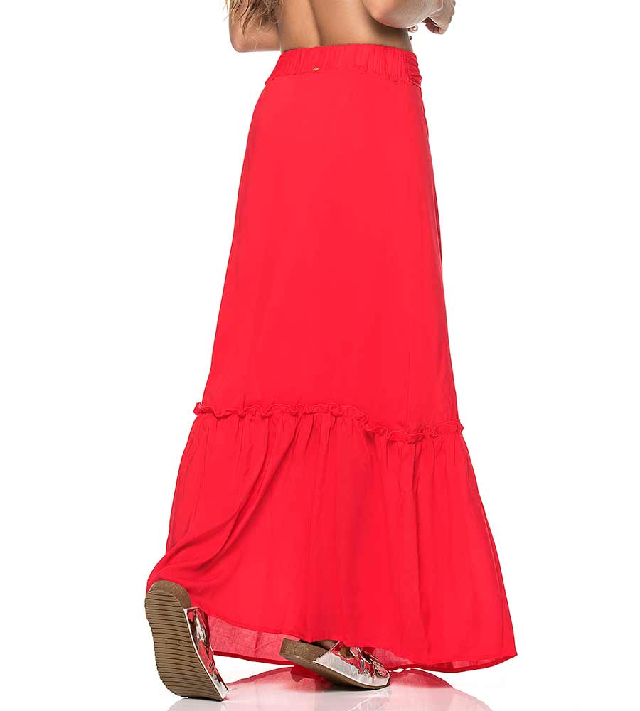 ELENA RED LONG SKIRT PHAX PF11720080-610