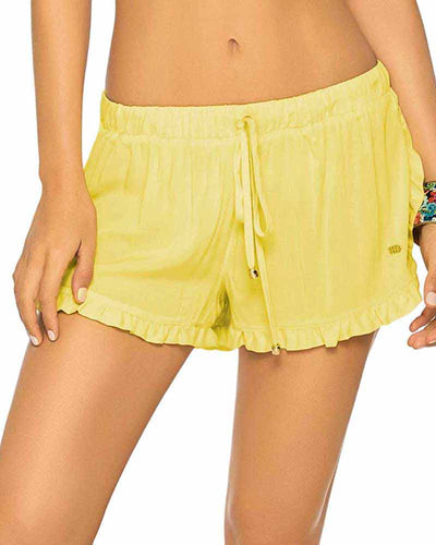 YELLOW RUCHED SHORT PHAX PF11740087-720