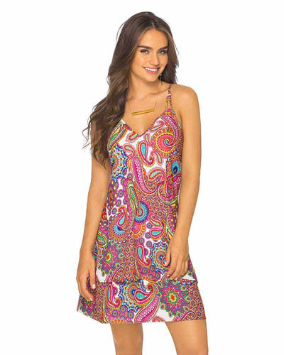 SUNSET PAISLEY DRESS PHAX PF11810337-510