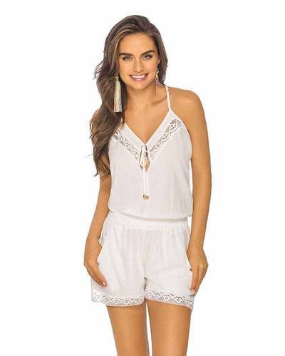 WHITE LACE SHORT ROMPER PHAX PF11840051-100