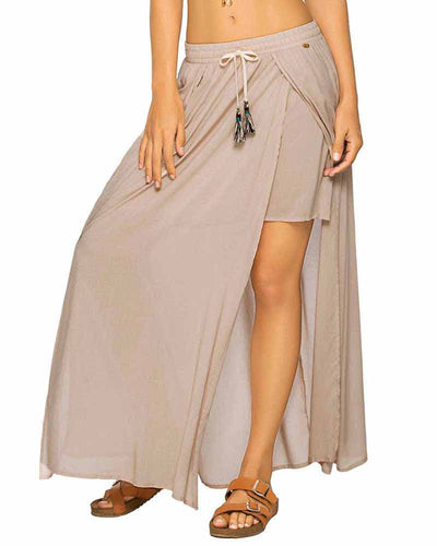 SAND COLOR MIX OPEN LONG SKIRT PHAX PF16720001-212