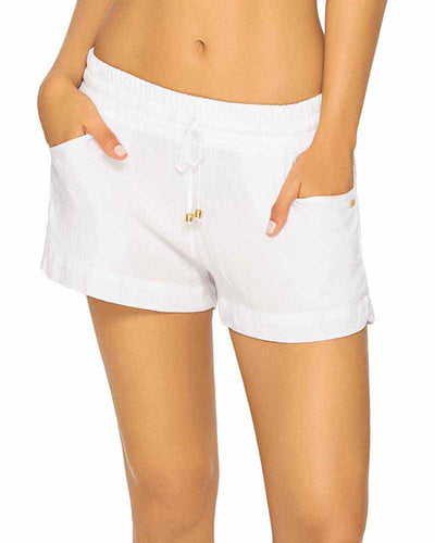 WHITE COLOR MIX RESORT SHORT PHAX PF16740001-100