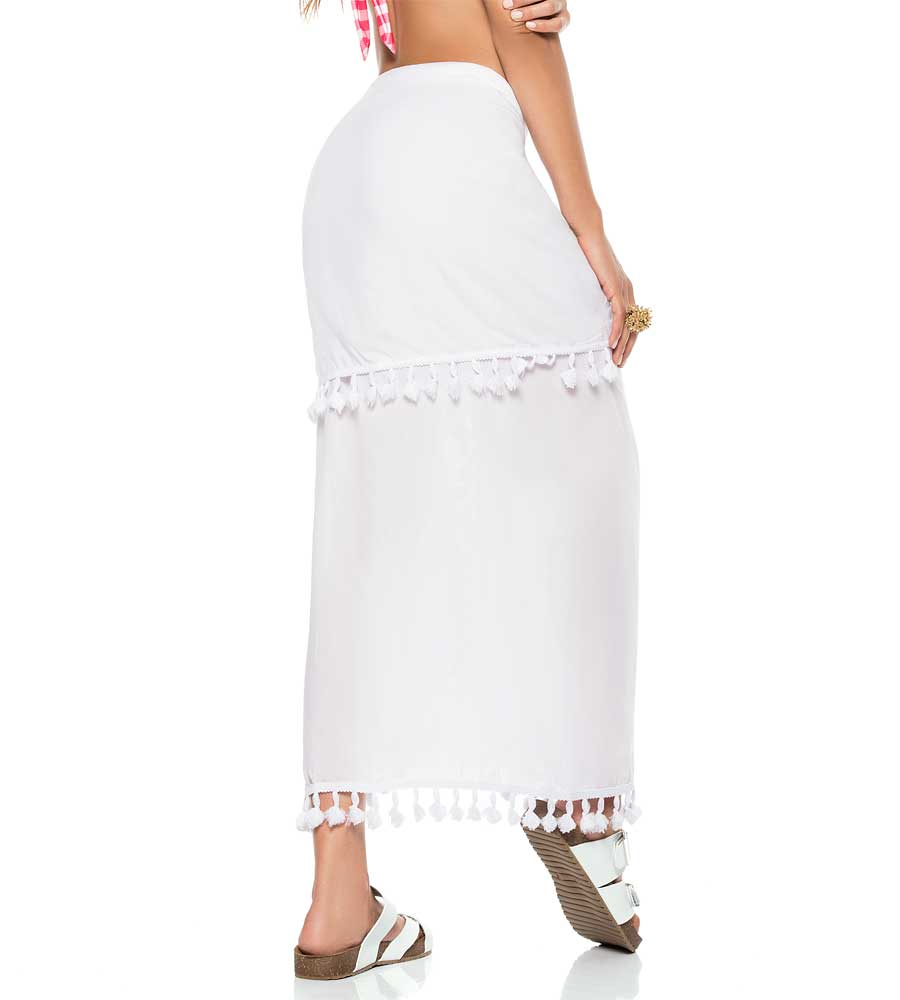 WHITE COLOR MIX SARONG BY PHAX