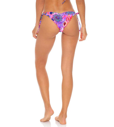 PINK LAGOON REVERSIBLE RUCHED BRAZILIAN TIE SIDE BOTTOM LULI FAMA L64602P-111