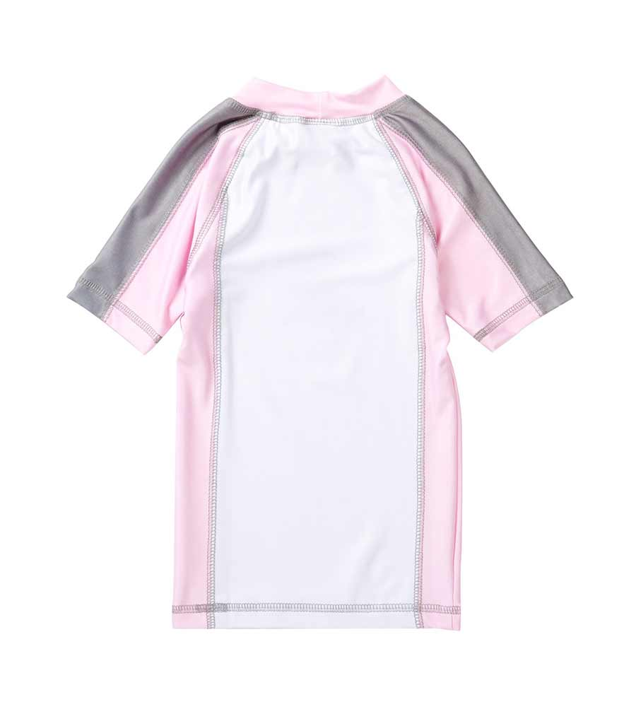 PINK SHORT-SLEEVE RASHGUARD BY AZUL