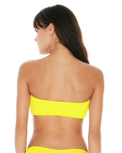 PUCKER UP CANARY YELLOW KRISTEN TOP LSPACE PKKST18-CAY