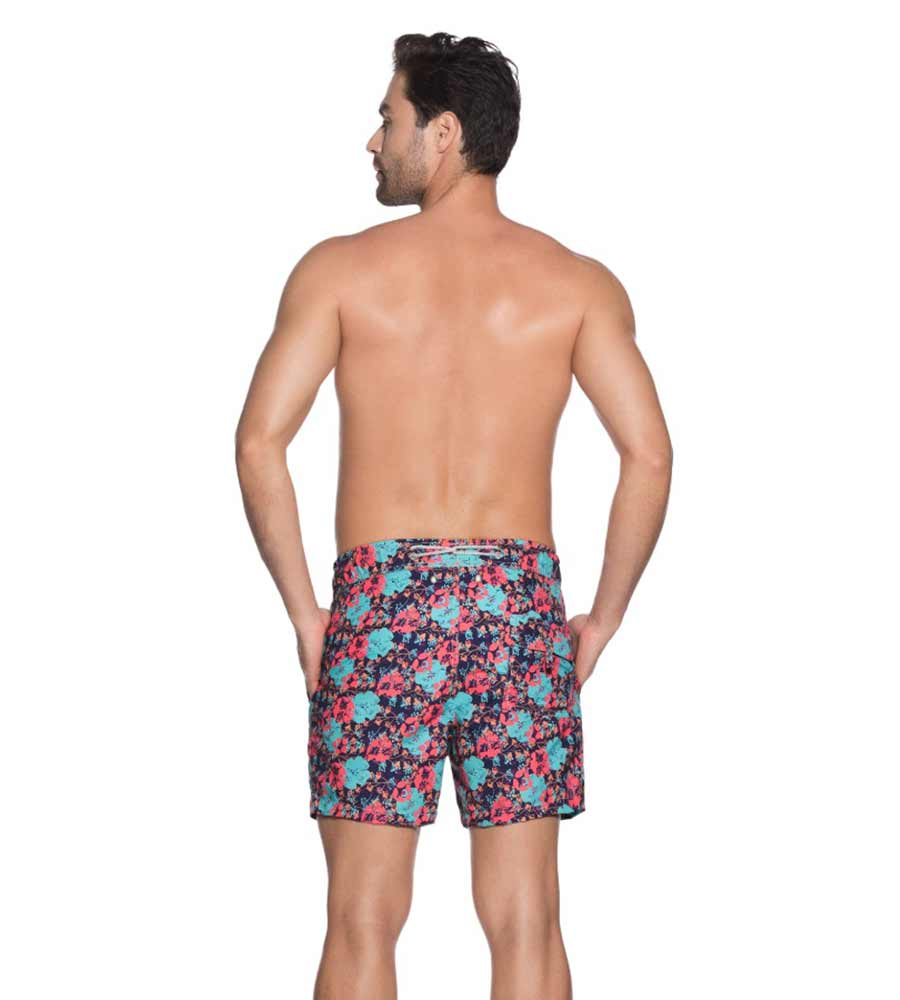 POPPING POPPIES FITTED SWIM SHORT ONDADEMAR PN7203-BAYP