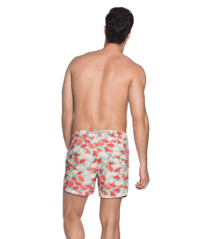 CORAL PALMS FITTED SWIM SHORT ONDADEMAR PN7207-BAYP