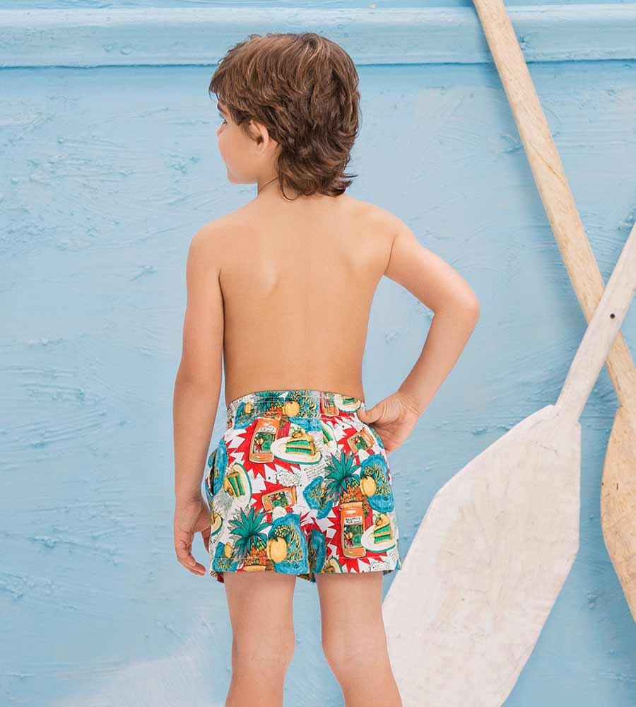 PEACH AND PINEAPPPLE BOYS SWIM SHORT ONDADEMAR PNBY3192-BAYP