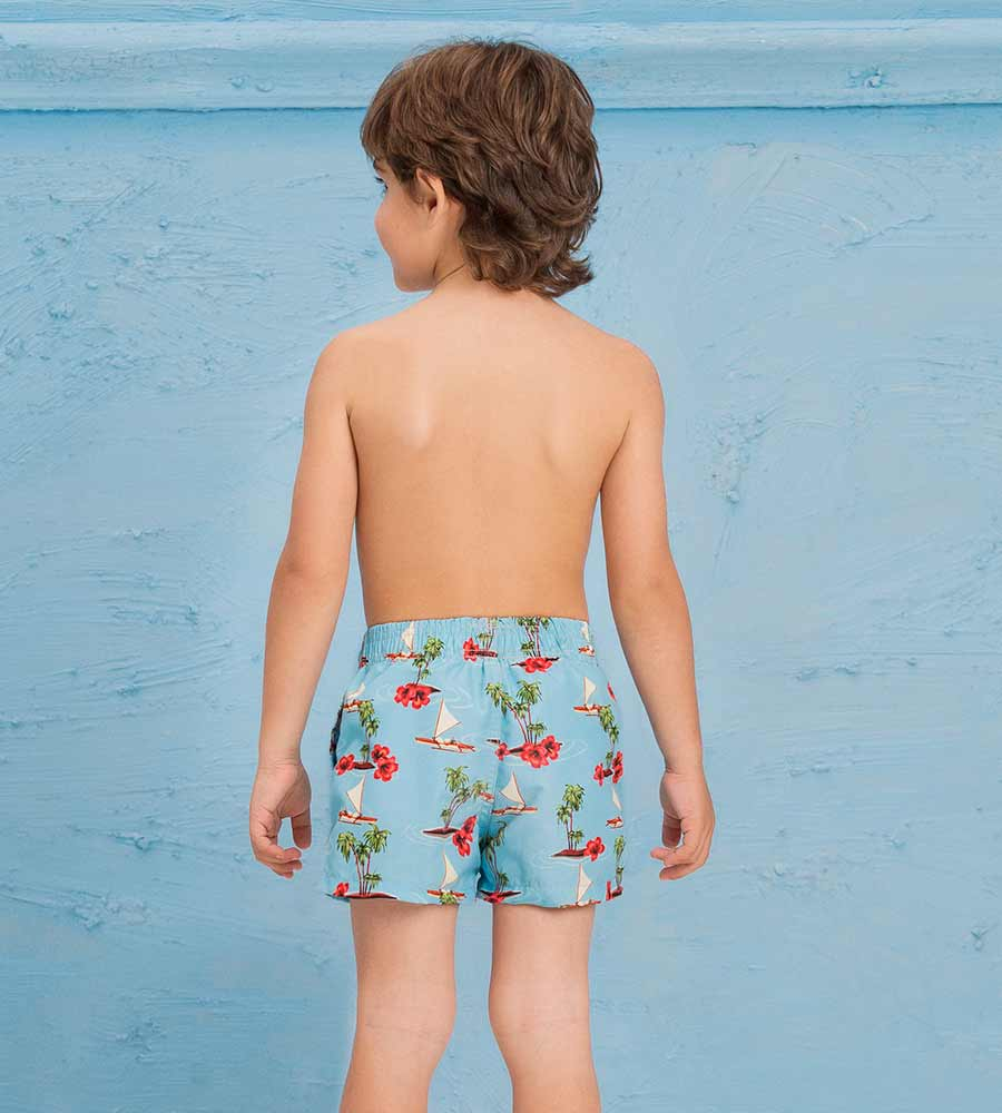 SEA LIFE BOYS SWIM SHORT ONDADEMAR PNBY3205-BAYP