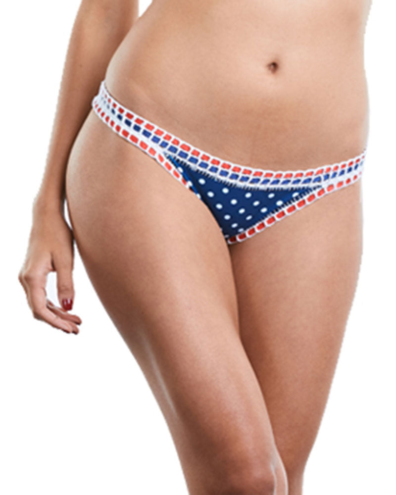 POOL PARTY BLUE DOTS LATIN BOTTOM BY PRAIA BRAVA