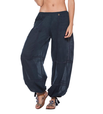 NAVY COTTON PANT ONDADEMAR PT084-SOLID