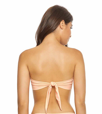 PAPAYA COLOR BLOCK BANDEAU TOP PILYQ PYA-153B