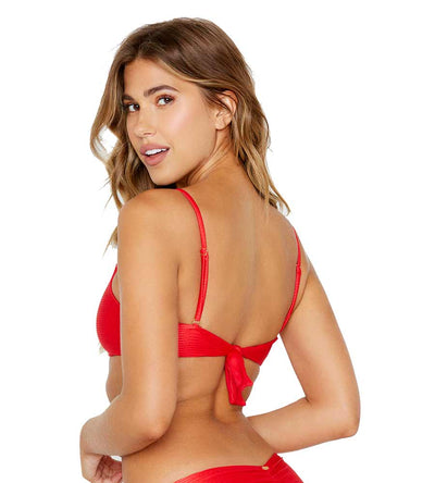 RED HAUTE HOLLYWOOD LEXI BRALETTE TOP BEACH BUNNY B19147T0-REDD