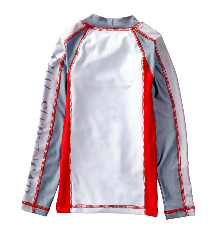 RED LONG-SLEEVE RASHGUARD AZUL 7009-R
