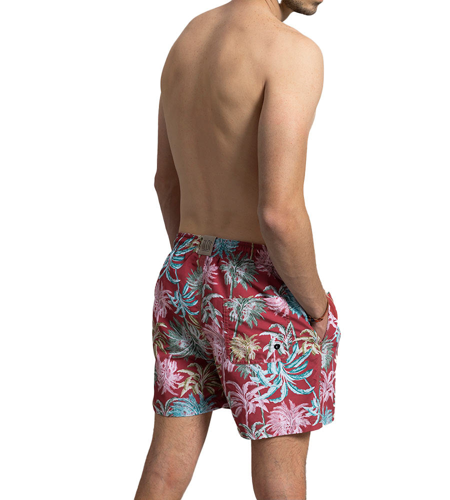 RED UNDER THE PALMS SWIM SHORTS TOUCHE MH14R11