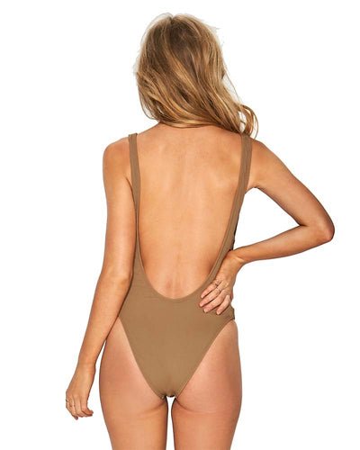 CAMEL RIDIN HIGH RIBBED MAYRA ONE PIECE LSPACE RHMYMC18-CAM