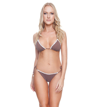 RIBBED BROWNIE MANDY BIKINI TOP DESPI 4531T