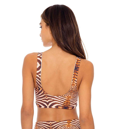 SAFARI DREAMS REVERSIBLE TIE FRONT TANK TOP LULI FAMA L649L13-007